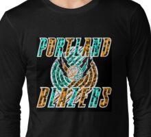 BLAZERS BLACK Long Sleeve T-Shirt