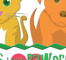 Pets Leave Pawprints Sticker