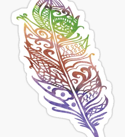 Color feather Sticker