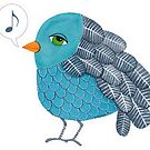 Slightly Depressed Blue Bird Singin' the Blues by Pip Gerard