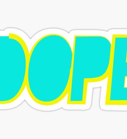 Dope Cyan Yellow   Hope4Pope.org Sticker