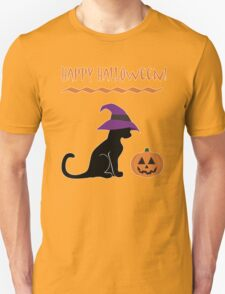 Halloween Witch Cat and Pumpkin T-Shirt