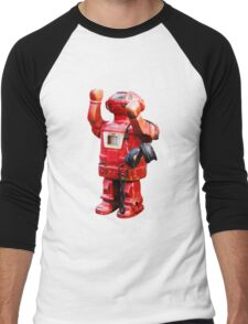 Bibot Robot Men's Baseball ¾ T-Shirt