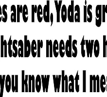 Roses are red, yoda is green by JuMix