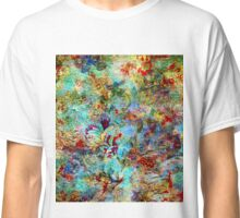 Rustic Colorful Floral Collage Grunge Syle Classic T-Shirt