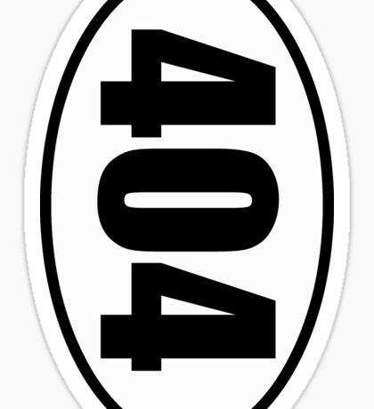404 Not Found Error - European Style Oval Country Code Sticker Sticker