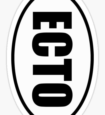 Ecto - European Style Oval Country Code Sticker Sticker