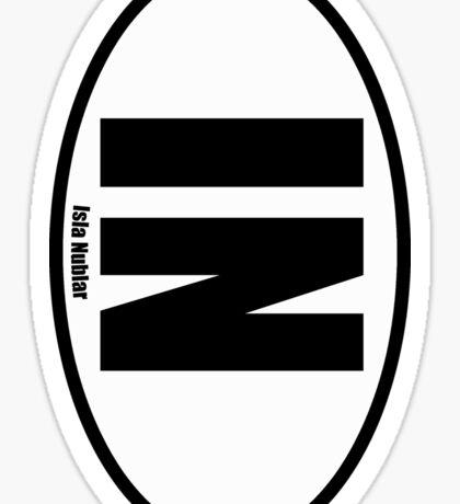 Isla Nublar - European Style Oval Country Code Sticker Sticker