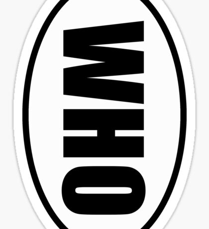 Who - European Style Oval Country Code Sticker Sticker