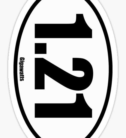 1.21 Gigawatts - European Style Oval Country Code Sticker Sticker