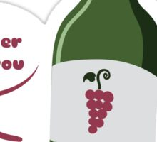 Red Wine Buddy Sticker