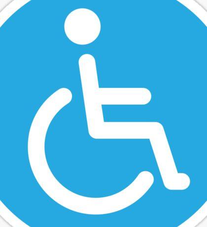 Disabled symbol, round stickers Sticker