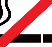 No smoking symbol stickers, black and red Sticker