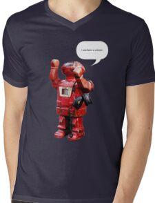 Bibot Robot- i was born a unicorn Mens V-Neck T-Shirt