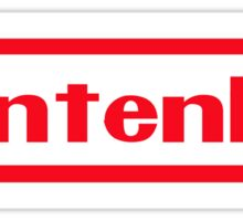 Nintenho Parody Logo Video Gamer Sticker