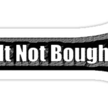 Built Not Bought Wrench 0001black Sticker