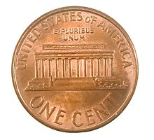 US one penny coin (one cent) isolated by PhotoStock-Isra