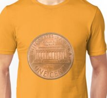US one penny coin (one cent) isolated Unisex T-Shirt