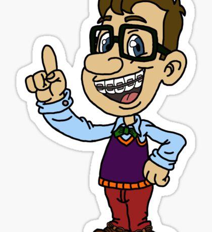 Cartoon Nerd Sticker