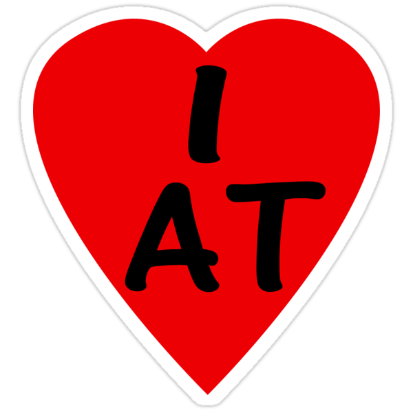 I Love Austria - Country Code AT T-Shirt & Sticker by deanworld