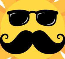 Funny sun with mustache and sunshades Sticker