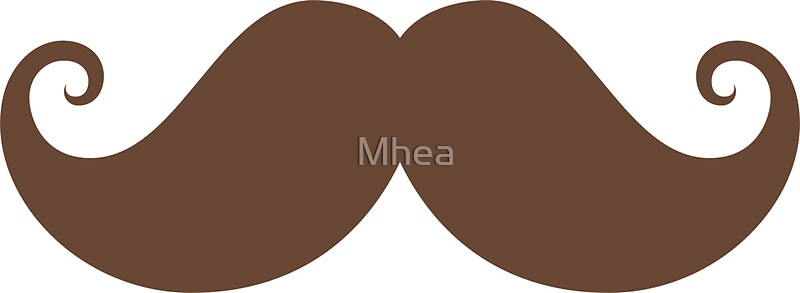 Quot Brown Mustache Quot Stickers By Mhea Redbubble