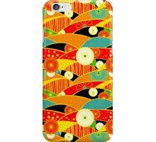 Chiyogami Crimson & Carrot [iPhone / iPod Case and Print] iPhone Case/Skin