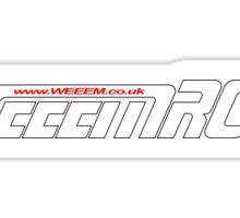 WeeemRCB #1    White / Red www Sticker