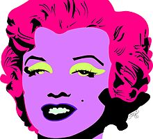 Purple Marilyn Monroe by tiffani revels