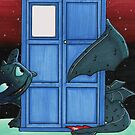 Toothless & Tardis (Sketch sticker) by RebelArts