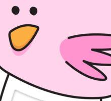 Pink little bird sticker Sticker