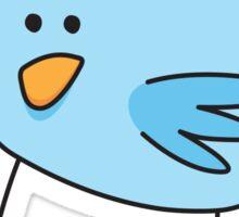Blue little bird sticker Sticker