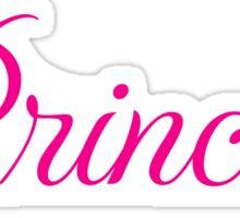 Princess, hot pink Sticker