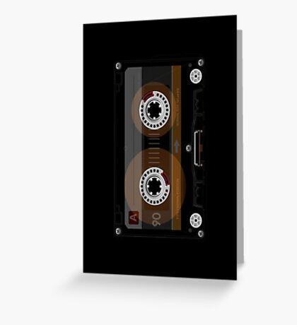 Retro Music Cassette Tape Greeting Card