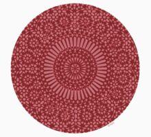 small red chakra mosaic circle girly Baby Tee