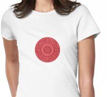 small red chakra mosaic circle girly Womens Fitted T-Shirt