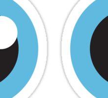 Two cartoon eyes with blue iris, stickers Sticker