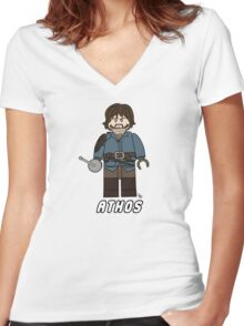 Athos Lego Women's Fitted V-Neck T-Shirt