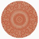 small orange chakra circle mosaic girly by offpeaktraveler
