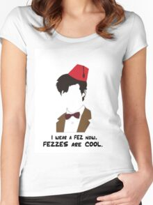 Fezzes Are Cool. 2.0 Women's Fitted Scoop T-Shirt