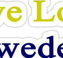 Live Love Sweden Sticker