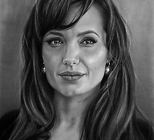 Angelina Jolie drawing by John Harding