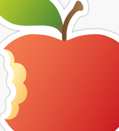 Red apple with bite sticker Sticker