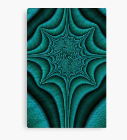 Green Malachite Abstract Canvas Print