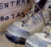 Camino de Santiago- no entrar con botas Sticker