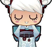 Kokeshi White by mechbunnies