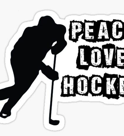 Peace, Love, Hockey Sticker