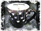 Happy Halloween Card - Black Spider Mug by MotherNature