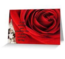 Romantic Love Card 1 Greeting Card