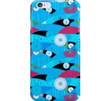 Chiyogami Aqua & Cerise [iPhone / iPod Case and Print] iPhone Case/Skin